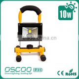 10w rechargeable led flood light lithium battery portabel IP65 led flood light for Camping Emergency Light