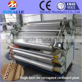 Double layer corrugated board making machine with E flute for package industry