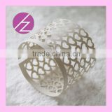 Cheap Wholesale Laser Cut Wedding Party Decoration Napkin Ring MJ-25