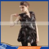 Hot Sale Long Style Nature Silver Fox Fur Vest For Women, Fashion Winter Fox Fur Waistcoat 2015