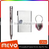 Popular heart shaped key chain pen card holder in gift box set for business