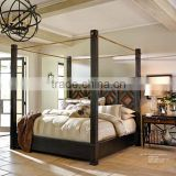 American style modern design bed Solid wood bed Four poster king size bed                                                                         Quality Choice