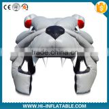giant inflatable bull dog tunnel, inflatable advertising helmet tunnel