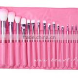 Professional makeup brushes, cosmetics makeup brush set, make up brush kit, pretty pink roll bag