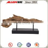 "7.4"" rotten wood sculpture, tree trunk sculpture for table top, artificial resin tree trunk"