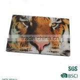 Tiger head picture fridge magnet eco-friendly fridge magnet/full color printed coated paper magnet/High performance