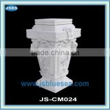 White marble column base beautiful carving
