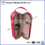 Top Grade PU Leather single wine bottle holder with hand strap