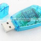 Best selling USB 2.0 SIM Card Reader writer adapter Backup Copy drive GSM/CDMA/WCDMA Store cell phone Number Edit SMS