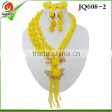 JQ008-2 Hot Acrylic Bead Chokers Statement Necklaces 2015 Bib Bubble Necklace Earrings Jewelry Set Multi