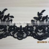 2015 new design black lace trimming wedding dress lace                                                                         Quality Choice