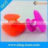 Silicone facial brush cleaner with suction