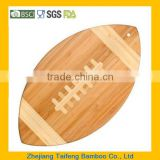 Totally Bamboo Football Cutting Board / Serving Platter New