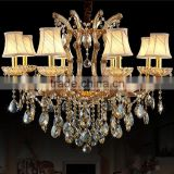 Colored Glass Suspension Crystal Chandeliers Lamp Modern Pendant Hanging Lights for Home Dining Room Decoration CZ6008/8
