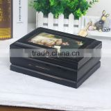black, white, cream Wooden gift Box table top decor photo frame