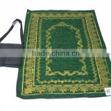 foldable muslim prayer rug with bag