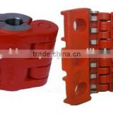 API 11B Typical polish rod clamps, polish rod clamp of hinge-jointed butterfly structure