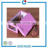 Gift& craft industrial use paperboard luxury design shoe box packaging with window                                                                                                         Supplier's Choice