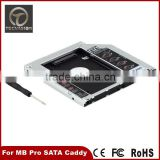 For Apple Macbook Pro Unibody 2nd HDD SSD SATA Hard Drive Caddy Bay Optibay 9.5mm                                                                         Quality Choice