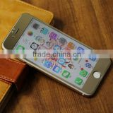 High Clear Anti-Glare waterproof Mobile Phone/Cell Phone LCD Gold Mirror screen protectors for iPhone 6
