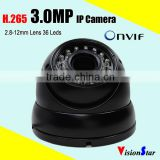 Outdoor home surveillance monitoring system security 3mp hi3516d ip ir dome camera                                                                         Quality Choice
