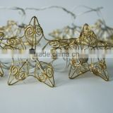 Event Party Supplier Christmas Decoration Star Shaped String Lights