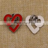 Custom soft enamel metal diy lapel pin with butterfly cluch                                                                         Quality Choice