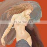 High resolution Glossy Non-woven cloth for printing nude art picture