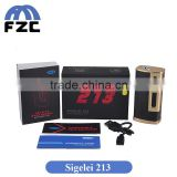 Alibaba China Supplier Carbon Fiber Material Original Sigelei 213 TC Box Mod Huge Vapor Sigelei 213w