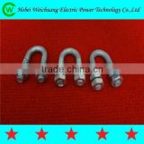 Hot Dip Galvanized U type Anchor U Bolt with Nut for Power Line Hadware Fittings, Unequal in Performance