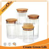 Food Package Jars With Bamboo Lids