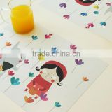 Safe and non-toxic kids kitchen plastic place mat