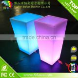 waterproof outdoor glow LED flower pot LED lighting planter LED flower vase light for decoration weeding/hotel
