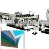 Hollow grid pp sheet making machine plastic
