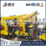 Ground Tractor-Mounted Hydraulic Screw Pile Driver DFT-A1004