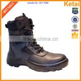 Black waterproof safety steel toe police military army boots                                                                         Quality Choice