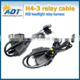 H4 Bi Xenon Dual beams H4-3 (Hi/Lo) 24V Relay Harness Controller cables