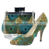 African Wax Printed Fabrics Women's High Heel Shoes And Bags For Party                                                                         Quality Choice