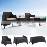 New design wicker garden set furniture used hotel balcony sofa furniture with coffee table