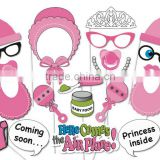 Baby shower girl birthday party children's day christmas pink color photo booth props