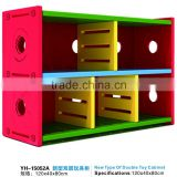 2016 Beautiful color children plastic combined storage cabinet