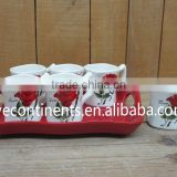 Certificated Chinese Tea Coffee Mugs with Tray