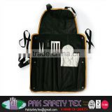 Customize Grill Sergeant BBQ Apron With a lot of pockets/100% Cotton Kitchen Aprons/Industrial Aprons/Garden Aprons