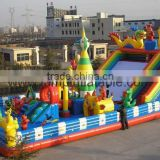 INFLATABLE IN AND OUTDOOR PLAYGROUND AMUSMENT PARK AND WATER POOLS WITH SLIDES.