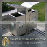 custom stainless steel outdoor trash can/trash bin/garbage can hot selling new products made in china