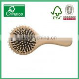 Healthy hand made nature wooden brush hair comb, cute, fashion gifts, easy to carry WMC012