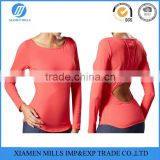 hollow out design ladies high quality fitness yoga clothing/ womens gym wear for wholesale