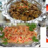 8011 9 10 mic Food Grade Baking Cooking Household Aluminium Foil with SGS certificate factory price good quality