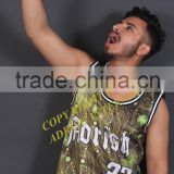 Green galaxy look all over custom printed basketball jersey