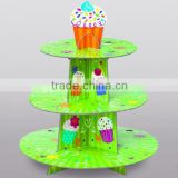 wholesales custom cheap clear recycled kraft single mini cardboard paper packaging cupcake stand
